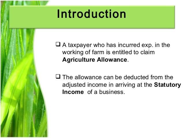 Chapter 3 agriculture allowance studnt Slide 3