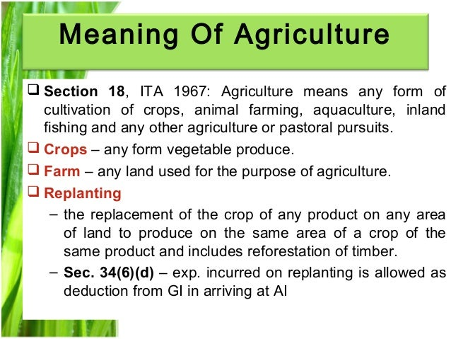 the meaning of agriculture pdf