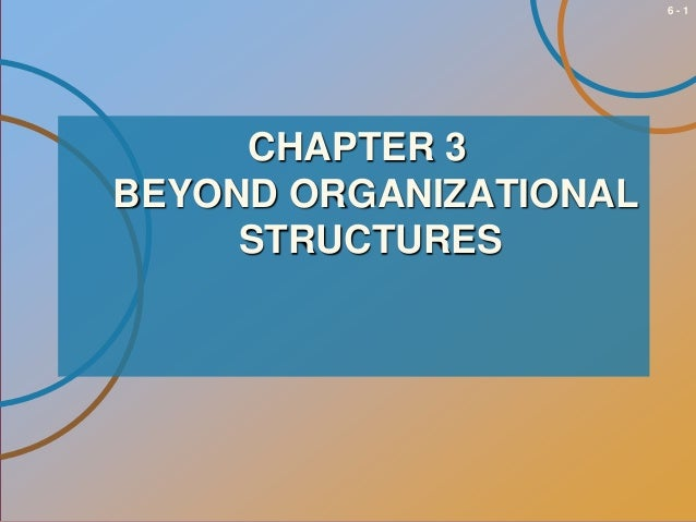 6-1  CHAPTER 3 BEYOND ORGANIZATIONAL STRUCTURES