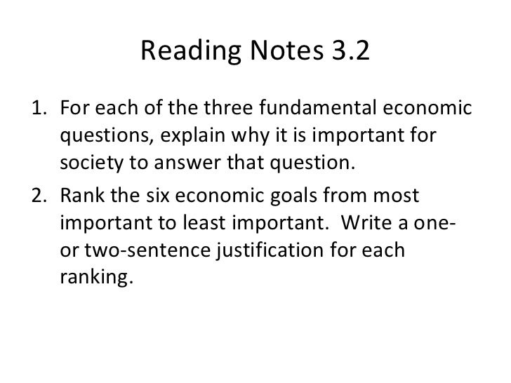 Economics assignments