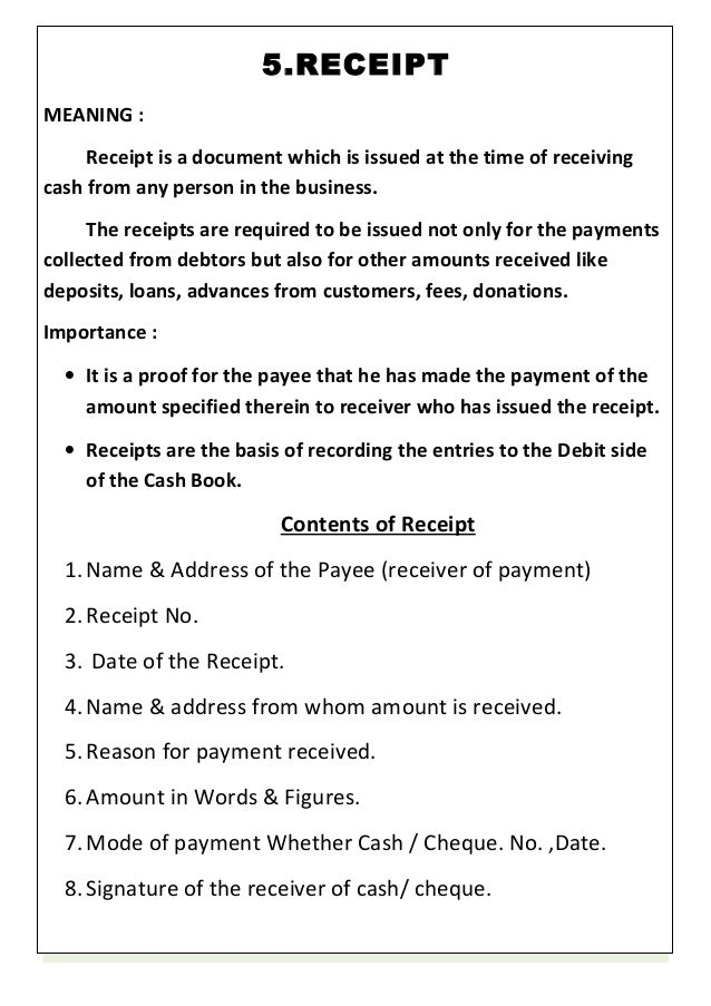 Receipt Document Send Customized Receipts for New Charges in – Receipt Document