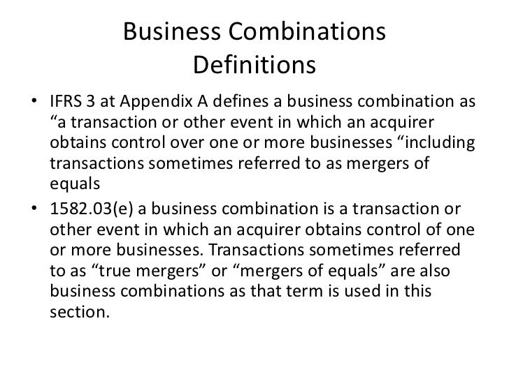 Chapter 3 business cbinations