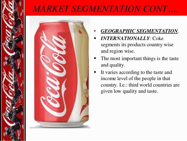 market segmentation targeting and positioning of coca cola pdf