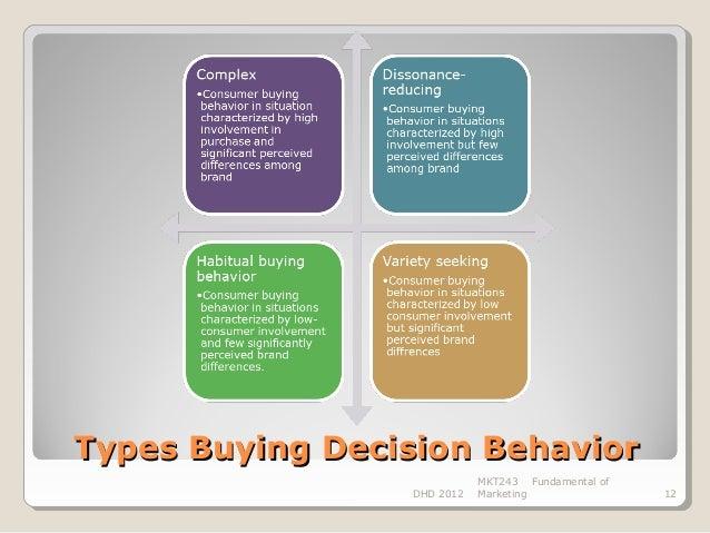 Major factors when deciding between two types of institutions