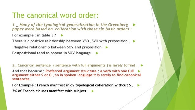 Basic Word Order' in Formal and Functional Linguistics and the Typolo…