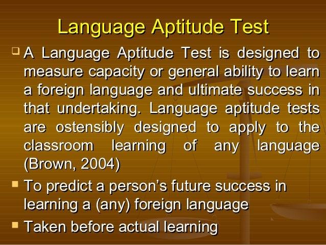 foreign language aptitude
