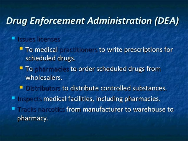 Chapter 3 drug regulation and control