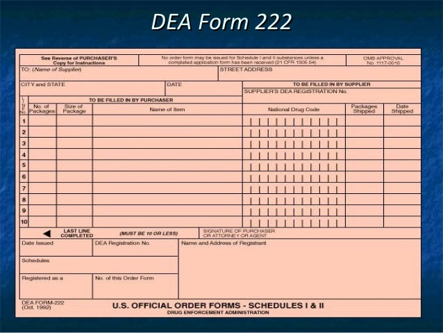 on example of filled in dea 222 form 2019