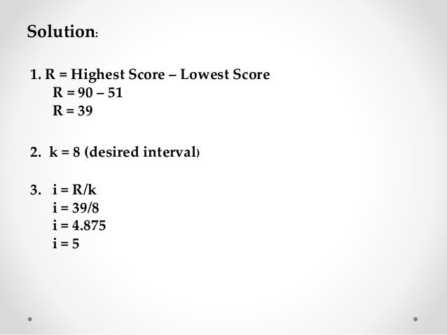 Presentation of Data and Frequency Distribution
