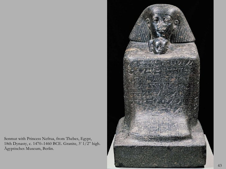 An analysis of the block statue senmut with princess nefrura from thebes