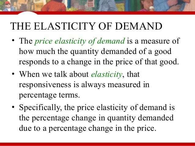 Chapter 3 elasticity for economics