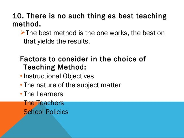 the nature of good teaching Activity 21 what do you think makes a good teacher  on the nature of knowledge 4 every teacher starts  knowledge and the implications for teaching by.