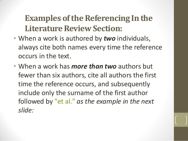 Literature review problem statement