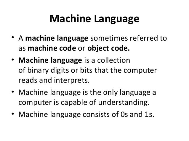 machine language to assembly language
