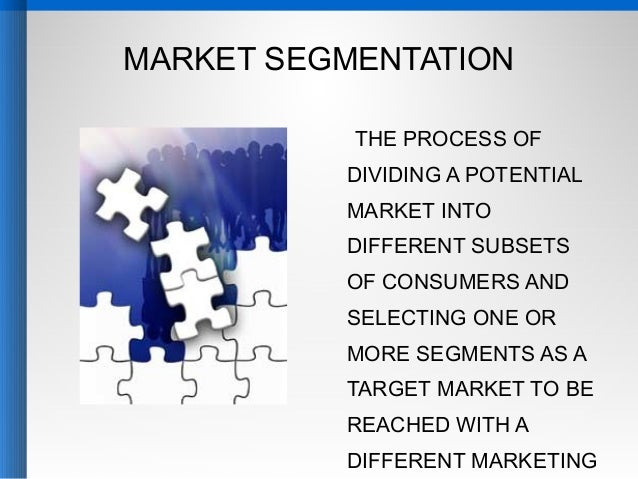 potential market segmentation Market segmentation and personas are two different techniques that are often   market segmentation identifies attitudes and potential buying habits, such as.