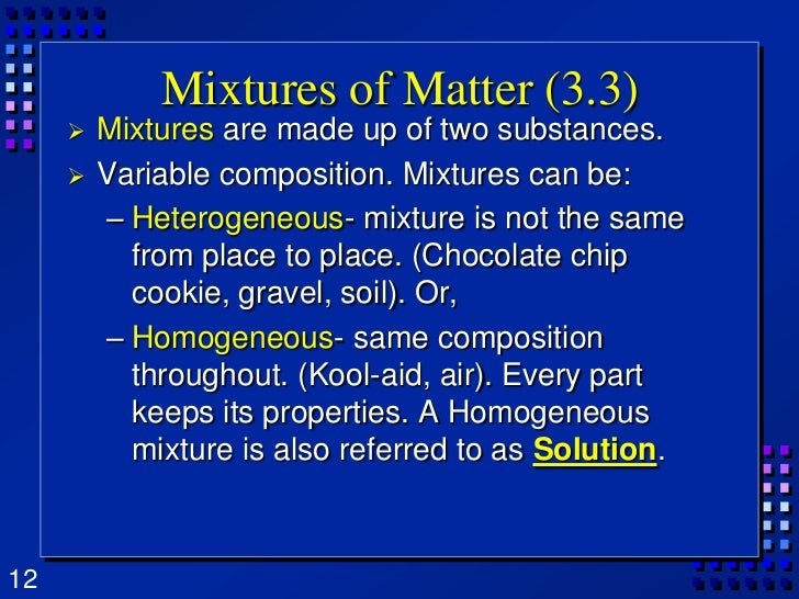 Chapter 3 matter properties and changes for Soil homogeneous or heterogeneous