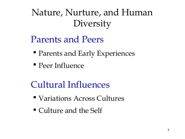 nurture influence on early human development The development of personality is often part of the nature versus nurture debate people want to know how children develop their personalities is personality an influence of the parent through genetics or learned traits from their environment.