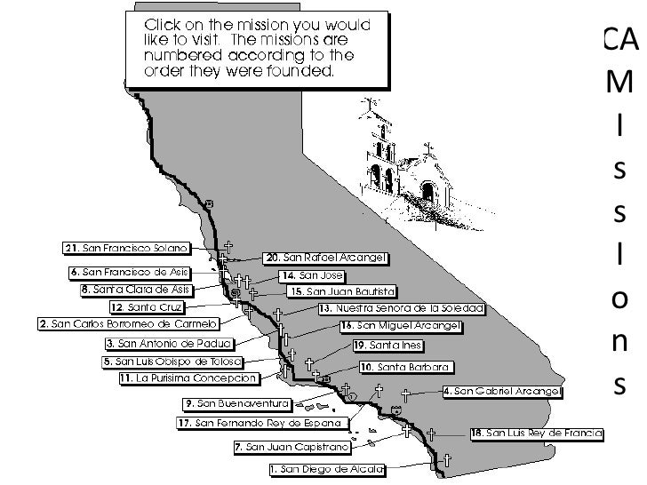 Map Of California Missions Locations.Chapter 3 New Bookppt
