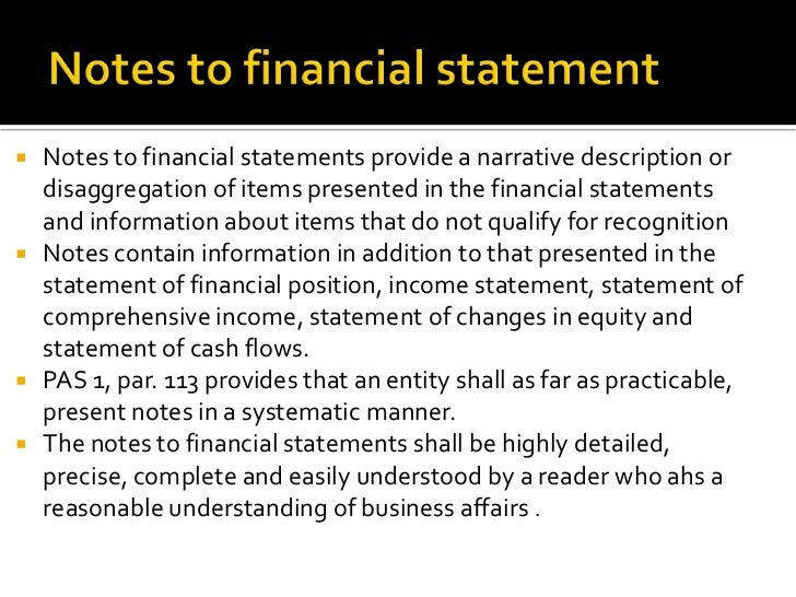 financial notes An overview of fasb accounting standards codification topic 235, notes to  financial statements, as well as a list of fasb accounting standards updates.