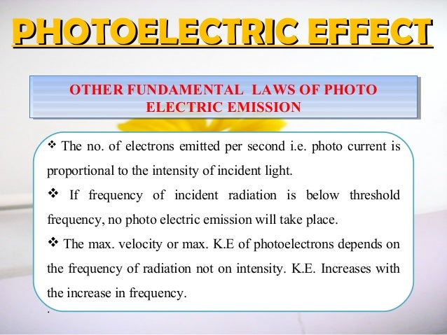 laws of photoelectric effect pdf