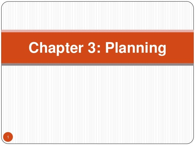 Principles of Management Chapter 3 Planning
