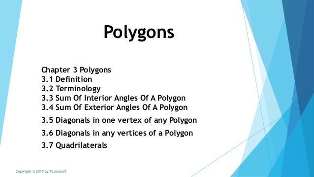 Polygons - Define exterior angle of a polygon ...