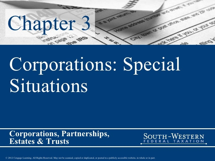 Chapter 3 Corporations: Special Situations