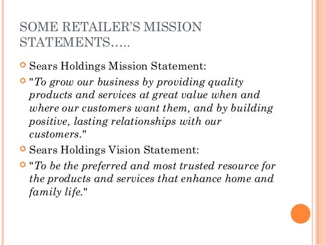 sears mission statement