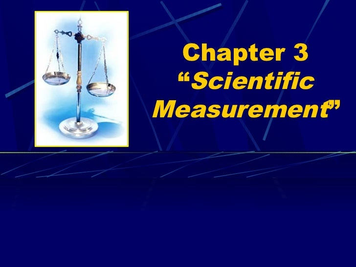 "Chapter 3 ""ScientificMeasurement"""
