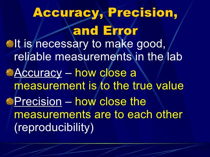 scientific measurement and error Reflects simply an error in measurement there are two factors that influence the standard error of measurement: the standard deviation and the test-retest.