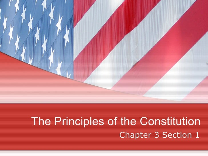 The Principles of the Constitution Chapter 3 Section 1