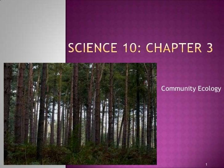 Community Ecology            1