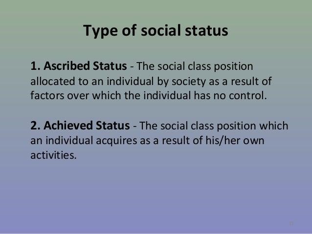 ascribed status vs achieved status examples