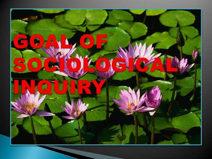 GOAL OF SOCIOLOGICAL INQUIRY<br />