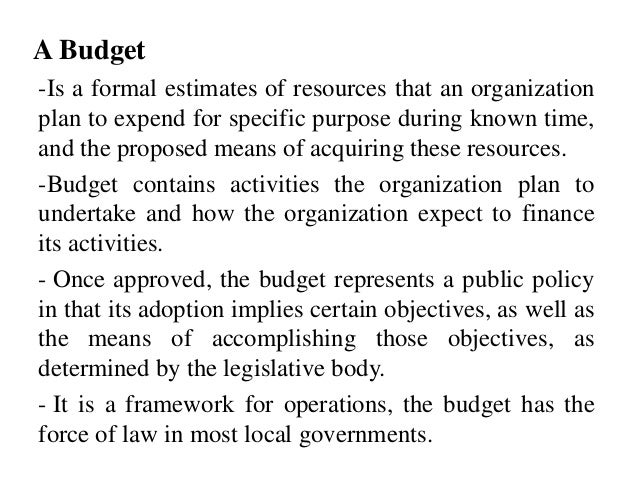 Budgetary Considerations in Governmental Accounting Slide 3