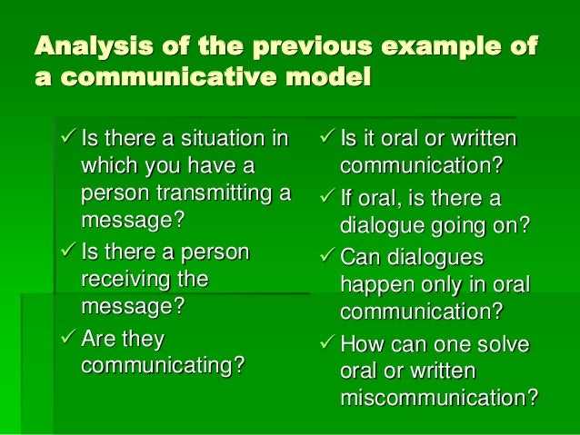spoken communication analysis The effects of prosody and gestures on spoken communication, citing a  the  french novelist sartre (1964) provides an analysis from a very.