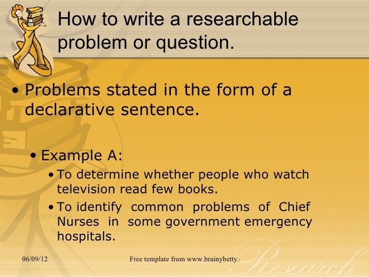 How to write research problems