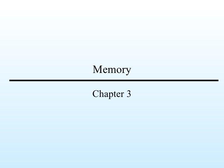 MemoryChapter 3