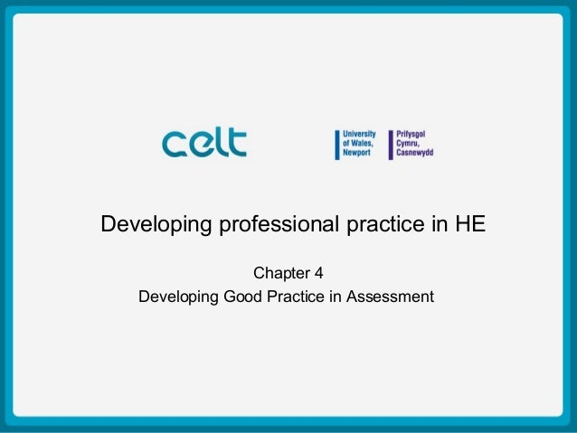 Presentation Title Example Author: Simon Haslett 15th October 2009 Developing professional practice in HE Chapter 4 Develo...