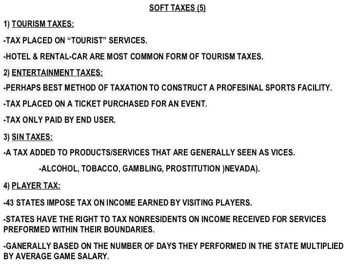 sin tax pros and cons