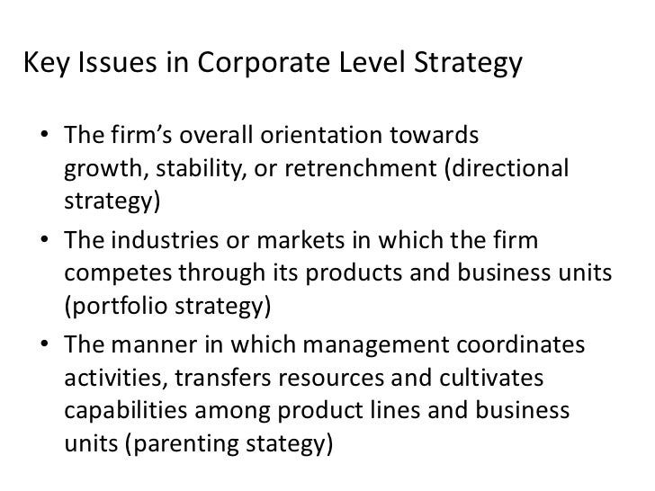 corporate level strategy Business-level strategy an organization's core competencies should be focused on satisfying customer needs or preferences in order to achieve above average returns.