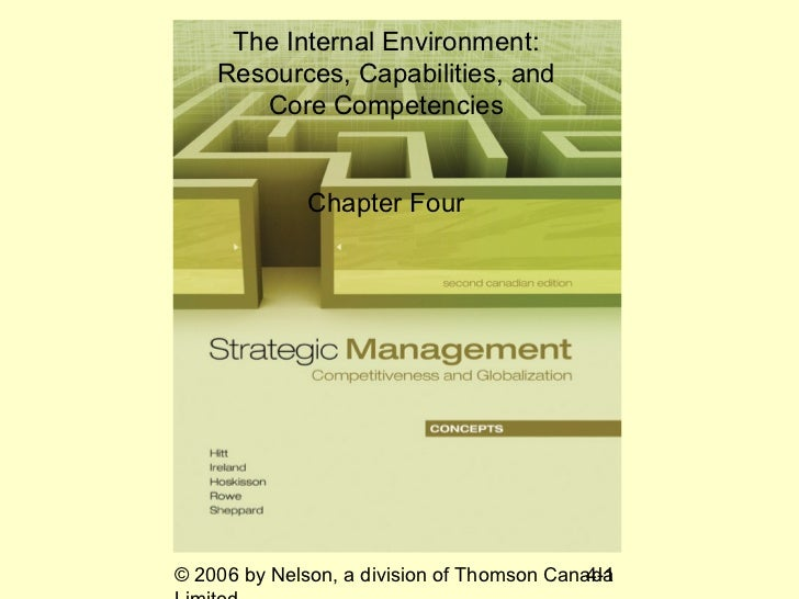 The Internal Environment:    Resources, Capabilities, and       Core Competencies              Chapter Four© 2006 by Nelso...