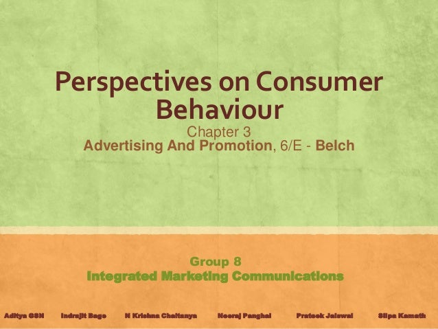Perspectives on Consumer                    Behaviour                                 Chapter 3                   Advertis...