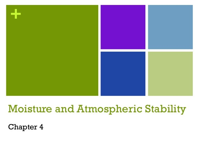 +Moisture and Atmospheric StabilityChapter 4