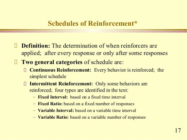 four contingencies of reinforcement Operant conditioning, in his opinion and operant contingencies (response-reinforcement), and the experimenter's task is to work out how these interact.