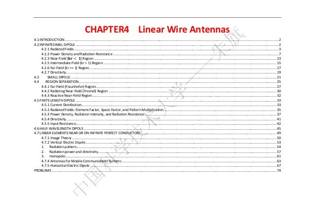 CHAPTER4  LinearWireAntennas4.1INTRODUCTION .......................