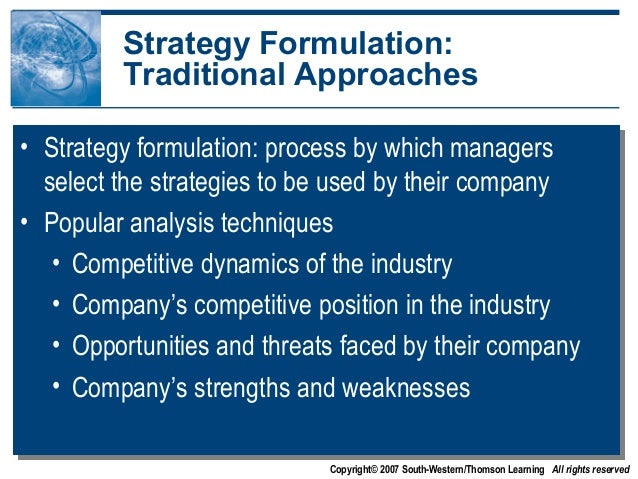 Steps in Strategy Formulation Process