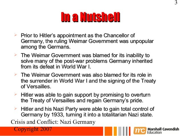 the factors that lead hitler and the nazis to power Nazism: nazism, totalitarian movement led by adolf hitler as head of the nazi party in germany, characterized by intense nationalism, mass appeal, dictatorial rule, and a vision of annihilation of all enemies of the aryan volk as the one and only goal of nazi policy.