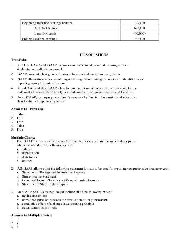 Chapter 4 – Proper Income Statement Format
