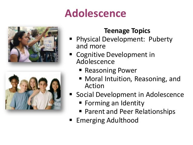 The physical characteristics and developmental profile of adolescents